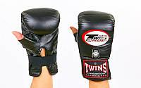 Снарядные перчатки кожаные TWINS TBGL-1H-BK