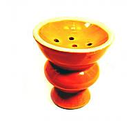Чашка для кальяна керамическая оранжевая (d-6,5, h-7 см) ( 21434B)