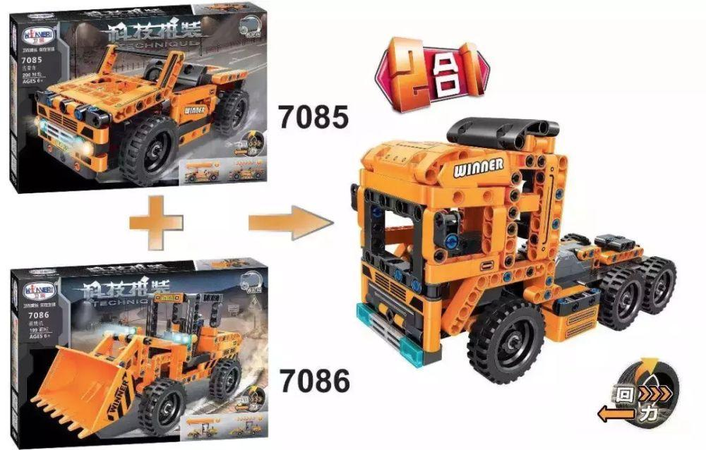Конструктор Winner 7085/7086 Technic 2 in 1 Лего lego
