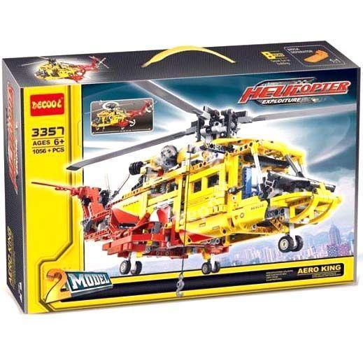 Конструктор Decool 3357 Вертолет 2в1 (аналог Lego Technic 9396) Лего