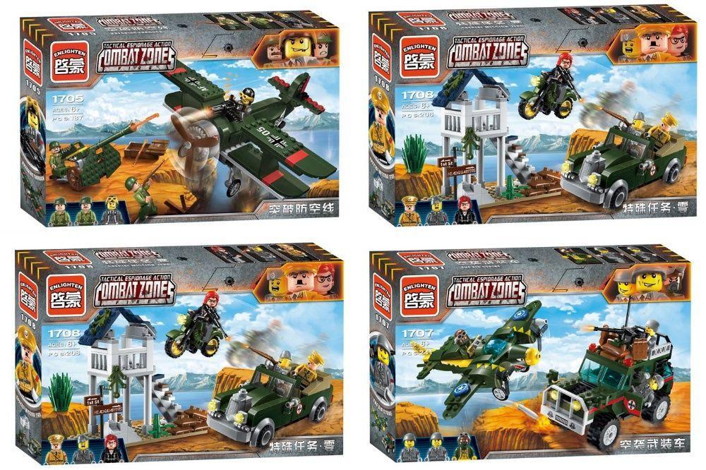 Конструктор brick 1705-1708 военная техника,фигурки,Lego Лего военные