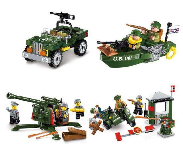 Конструктор brick 1701-1704 спецназ военные армия Лего lego BrickArms