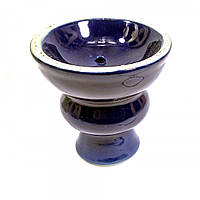 Чашка для кальяна керамическая синяя (d-6,5, h-7 см) ( 21434C)