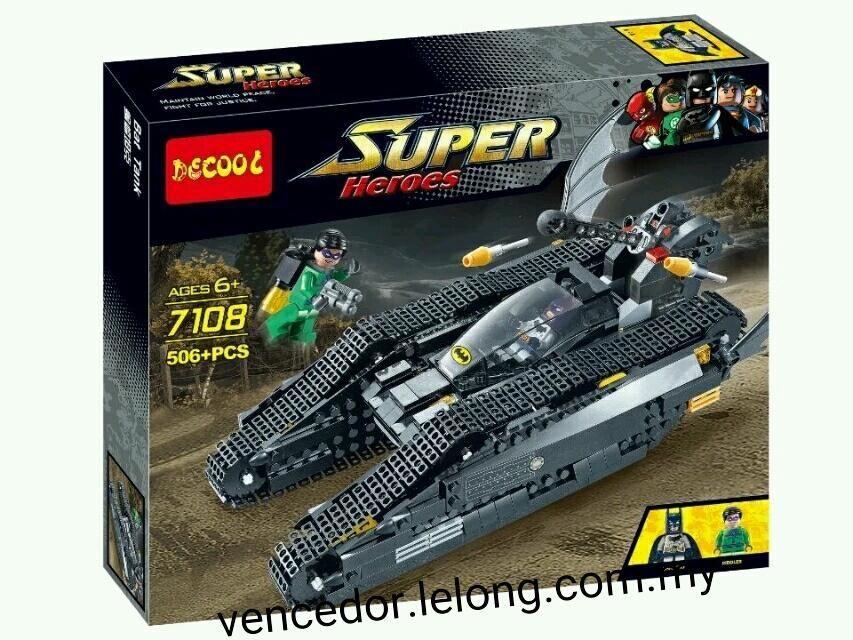 Конструктор Decool 7108 Бэтотанк Lego Super Heroes 7787 лего