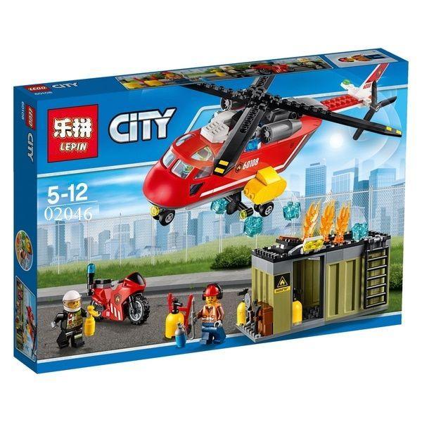 Lepin 02046 Пожарная команда быстрого реагирования Lego City 60108