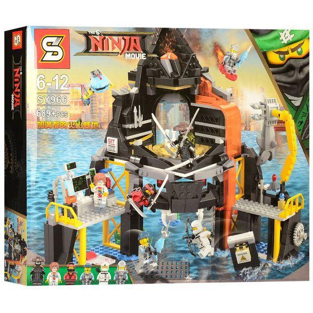 SY966 ниндзяго,ninjago Вулканическое логово Гармадона 70631 лего lego