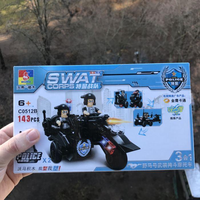 """Конструктор """"Полиция"""" Woma c0512 Lego Lego военные swat"""