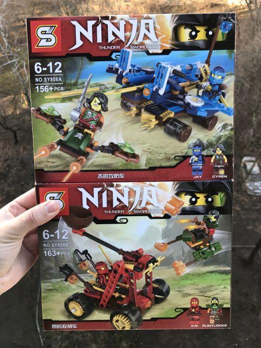 """Конструктор """"Транспорт Ниндзя"""" 2 вида ниндзяго лего Ninjago SY808AB"""
