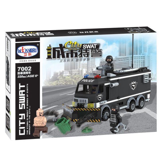 Конструктор спецназ с грабителями lego лего военные winner 7002