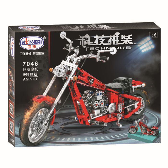 Конструктор Winner 7046 568 деталей lego Technic лего чоппер