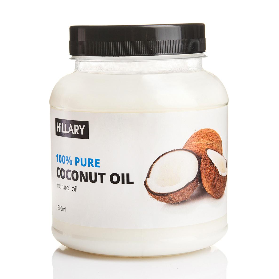 Рафинированное кокосовое масло HiLLARY, 500 мл