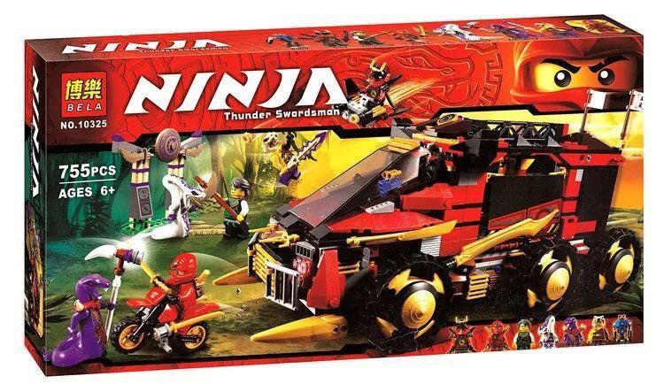 "Конструктор Bela 10325 ниндзяго Lego Ninjago ""Мобильная база Ниндзя"""