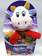 Новогодний подарок мягкая игрушка и сладости Milka 100г (Швейцария)