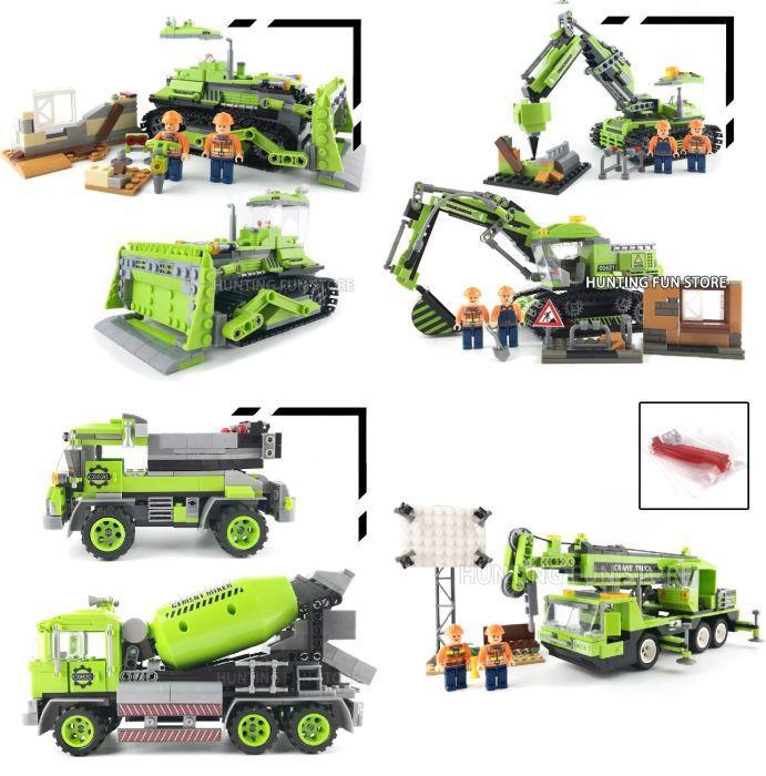 Конструктор woma c0620-c0623 Lego City бетономешалка трактор кран