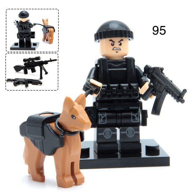 Фигурки swat спецназовцы военные солдаты Лего Lego BrickArms