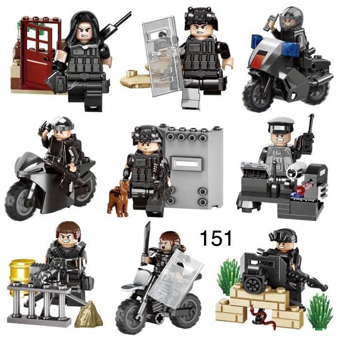 Фигурки swat спецназ военнослужащие солдаты Лего lego BrickArms