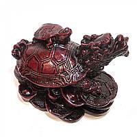 Черепаха-дракон каменная крошка коричневый (9х7х6 см) ( 2643)