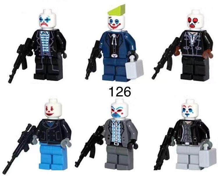 Фигурки грабители SWAT спецназ военные лего Lego BrickArms бандиты