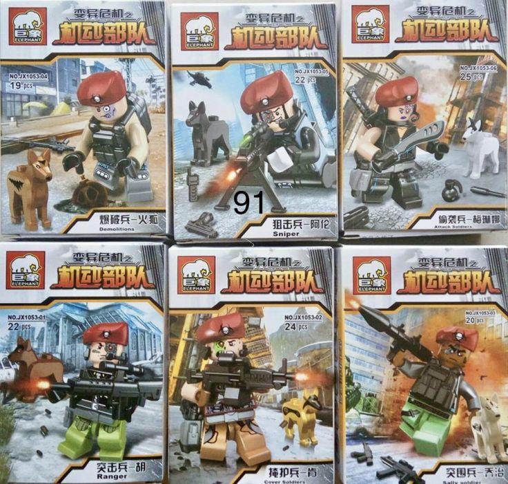 Фигурки военные роботы SWAT спецназовцы солдаты Лего lego BrickArms зомби призраки привидения