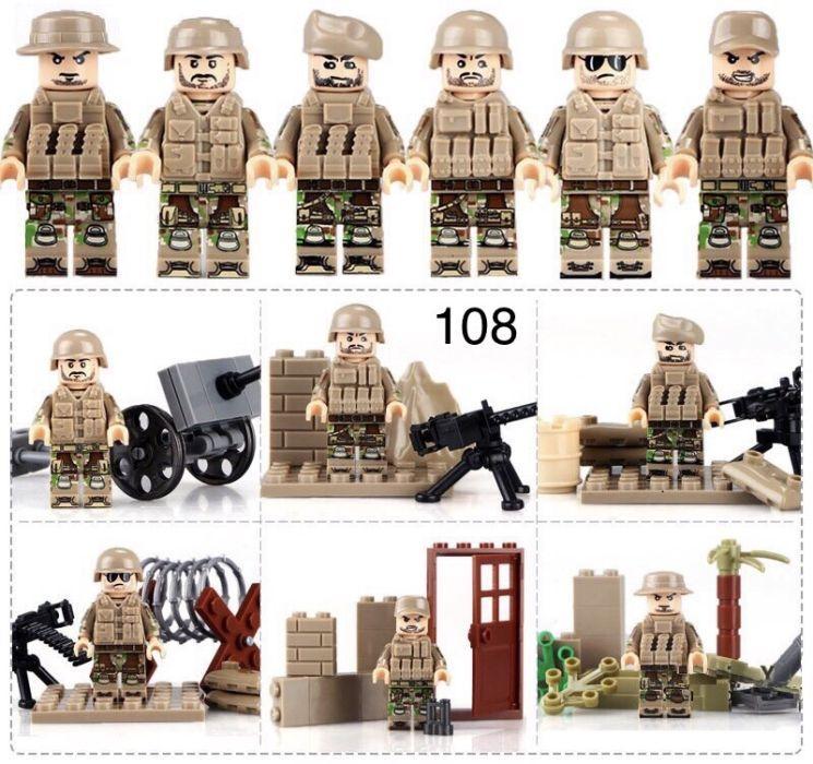 Фигурки военных второй мировой войны swat спецназовцы армия Лего lego