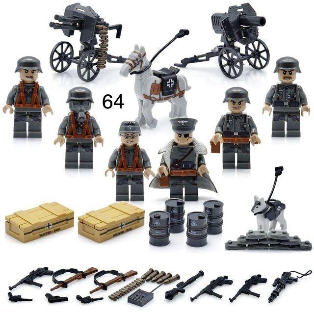 Фигурки немецкие военные swat спецназ солдаты лего lego вермахт сс