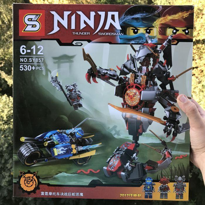 Конструктор Ninjago SY857 Робот с мотоциклом Лего Lego 70626 ниндзяго
