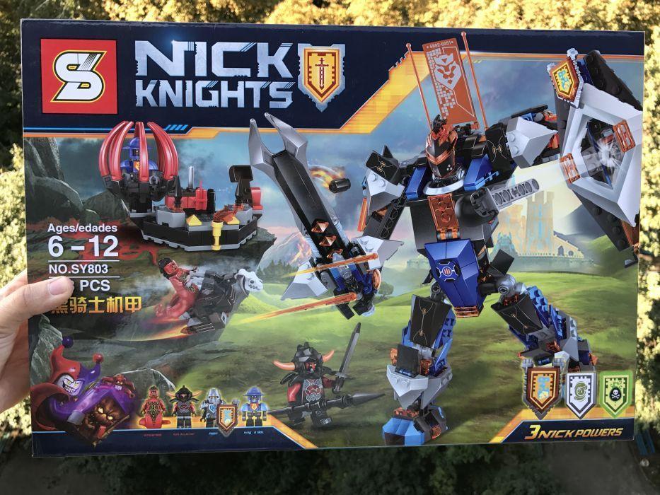 Аналог Lego Nexo Knights Робот Черного рыцаря 70326 ниндзяго SY803