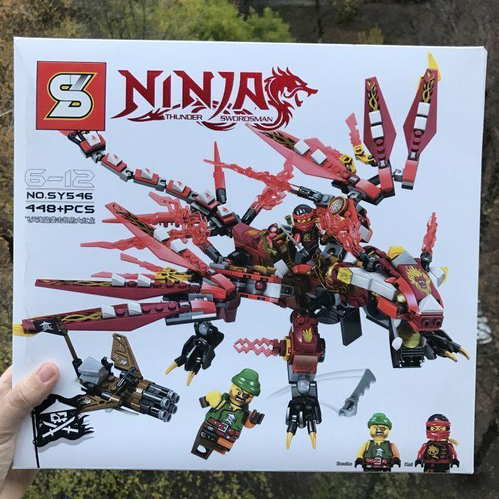 Конструктор SY546 Ninjago Ниндзяго Красный Дракон Кая Лего Lego