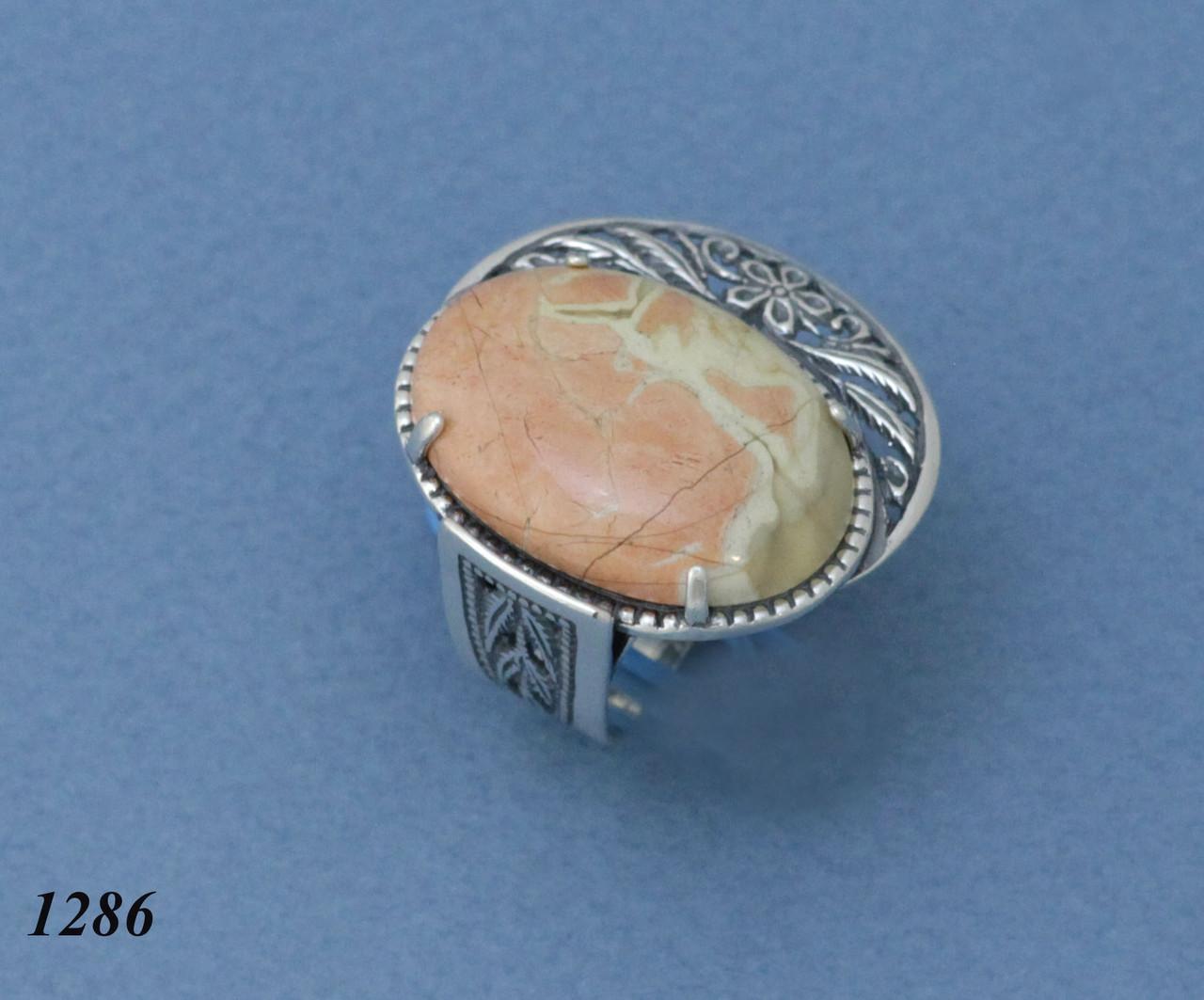 Кольцо из серебра с яшмой .