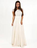 c729d12f8f1 Вечернее платье на свадьбу макси юбка клеш короткий рукав шифоновое с  пайетками