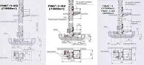 Строительный подъемник мачтовый секционный ПМГ г/п-1000.  Подъёмники мачтовые строительные на 1 тонну. Н-75 м, фото 2