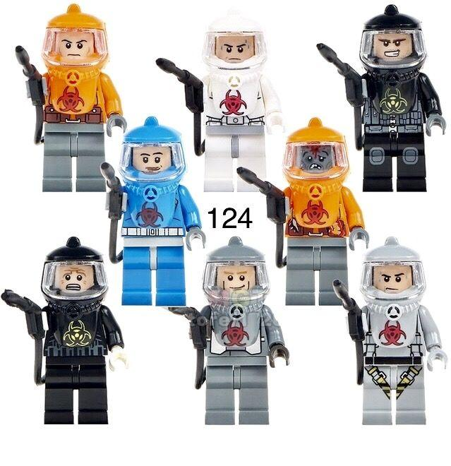 Фигурки в Радиационных защитных костюмах РЗК военные Лего Lego swat