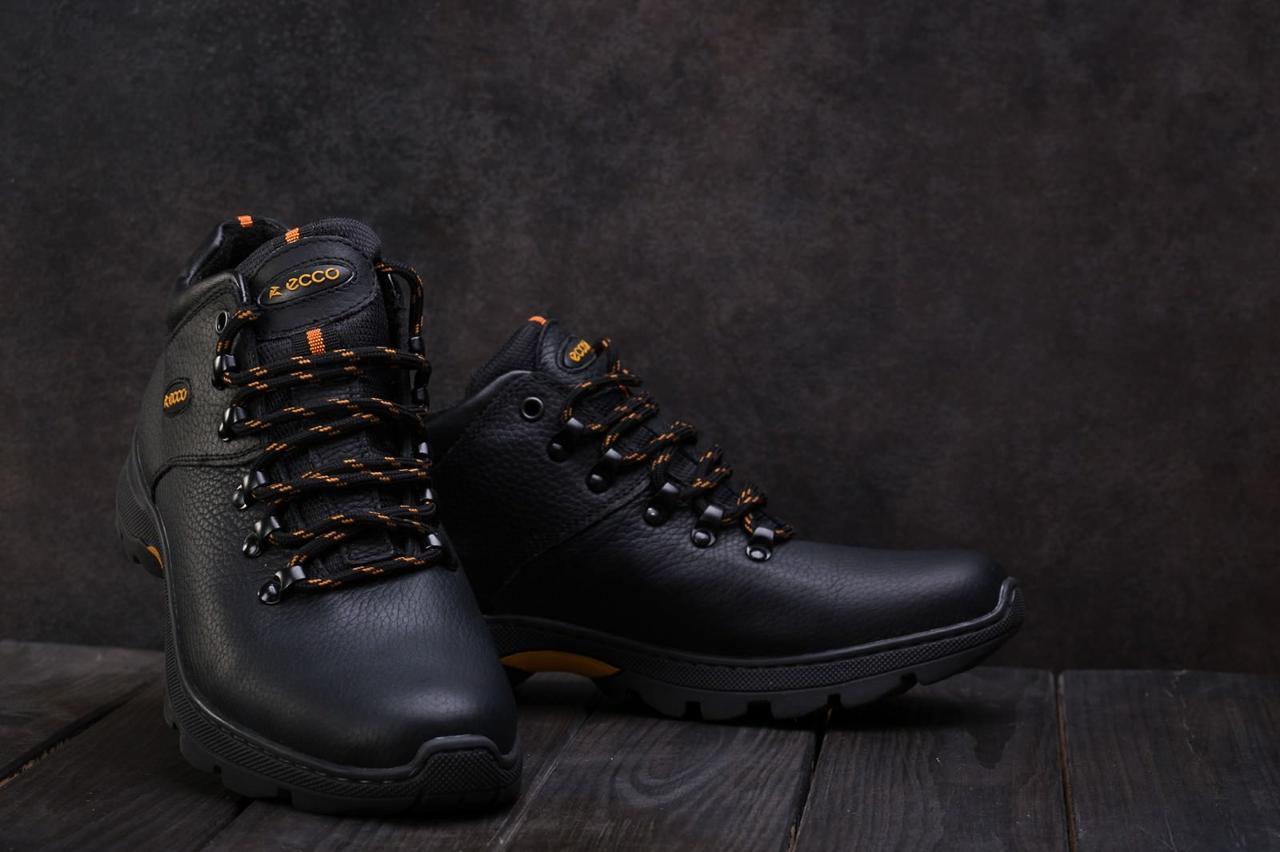 Мужские кожаные зимние ботинки Ecco 130W-M1