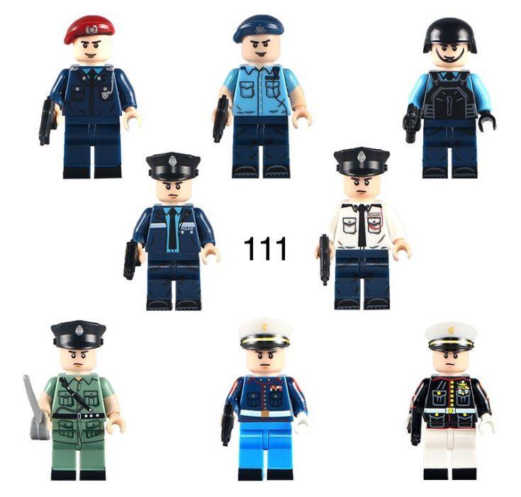 Фигурки полицейских swat спецназ военнослужащие армия лего Lego