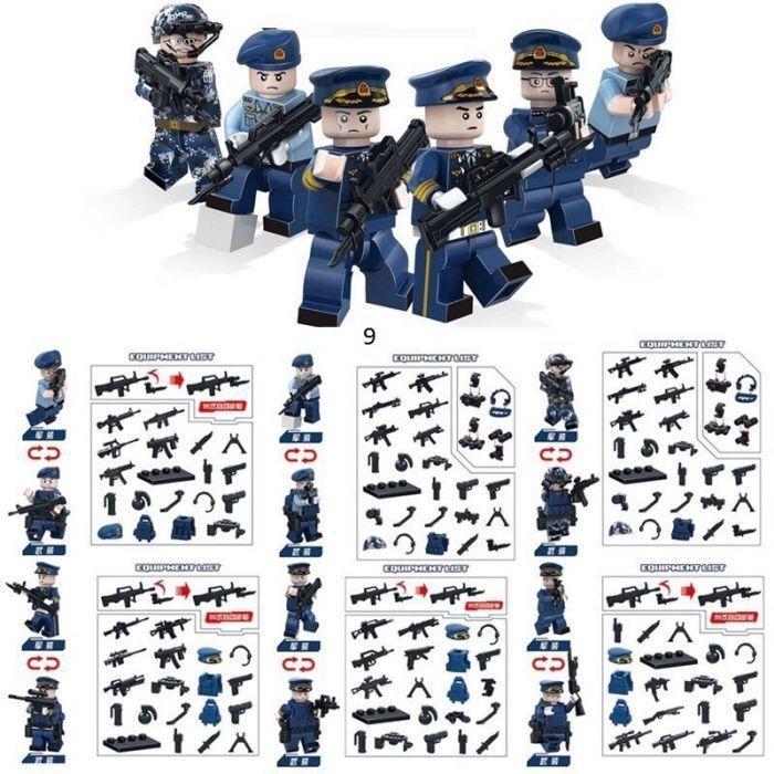 Минифигурки swat спецназовцы военные солдаты Лего Lego BrickArms