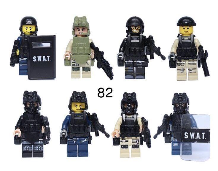 Фигурки SWAT спецназовцы военнослужащие солдаты лего Lego BrickArms