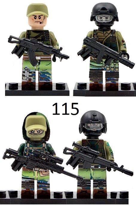 Фигурки российских спецназев SWAT военные армия лего lego BrickArms
