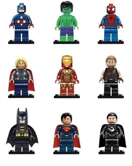 Фигурки Marvel DC лего супергерои Супермен Бетмен Человек-паук брелок