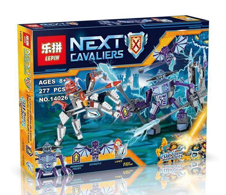 Конструктор Lepin Ланс против Монстра-молнии 14026 Nexo Knight 70359 нексо найтс