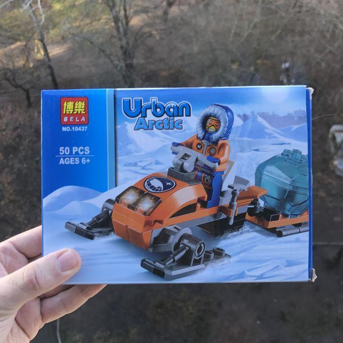"""Конструктор Bela 10437 """"Арктические аэросани"""" (аналог Lego City 60032)"""