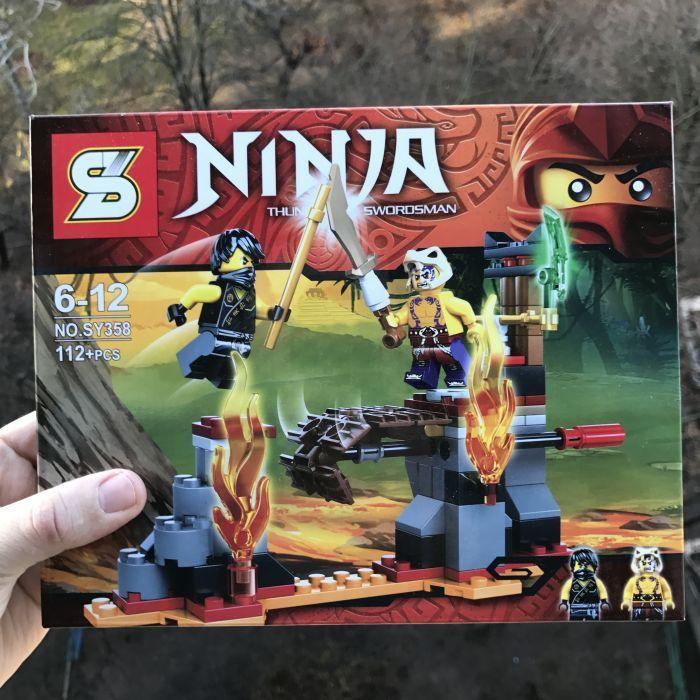 Конструктор Bela SY358 Сражение над лавой 70753 (аналог Lego Ninjago)