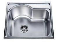 Врезная кухонная мойка из нержавеющей стали Platinum 5843 Сатин 0.8