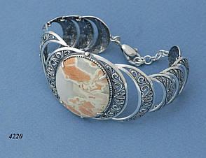 Кольцо из серебра с яшмой ., фото 3