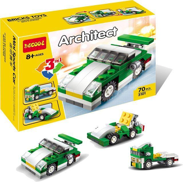 Конструктор Decool 3101 (аналог Lego Technik) Architect 3в 1 Лего