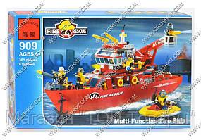 Конструктор Brick 909 (18) Пожарный катер, 361 дет,