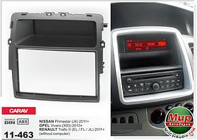 Рамка переходная Carav 11-463 Nissan Primastar 2011+,  Opel Vivaro 2010+,  Renault Trafic II 2011+