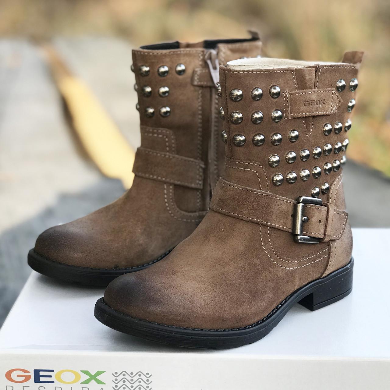f53a42b45 Кожаные демисезонные ботинки Geox (Италия) J Sofia C р 28. джеокс на девочку