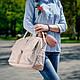 Сумка женская большая с накладными карманами, натуральная кожа и замша. Цвет на выбор., фото 4