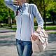 Сумка женская большая с накладными карманами, натуральная кожа и замша. Цвет на выбор., фото 5