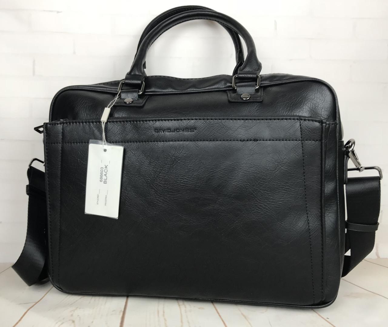 18fc5cd0 Красивая мужская сумка-портфель для документов David Jones. КС94 -  интернет-магазин